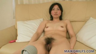 Assplug lover Junko Konno_getting her asshole fucked with a dildo and giving blowjob at a time thumb
