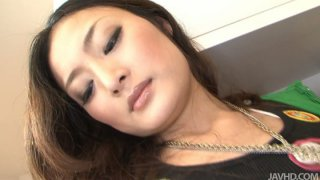 Beautiful japanese whore Risa_Murakami stripping on a cam and showing off her sexy body thumb