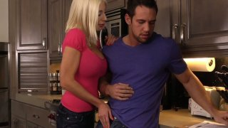 Horny Puma Swede gives blowjob to her real estate agent thumb