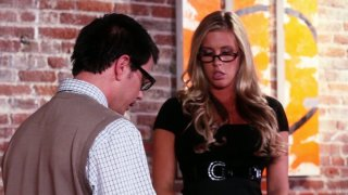 Slutty model Samantha Saint gets fucked by her assistant thumb