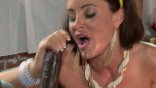 Big tits of Lisa Ann are for titfucking big_black dicks thumb