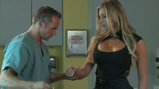 Gorgeous blonde visits handsome doctor and turns on for him thumb