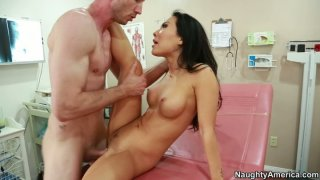 Hot and kinky brunette Asa Akira is a slutty doctor pleasing a cock thumb