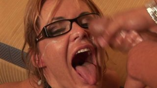 Ugly aunty Kelly Leigh gets poked hard in a missionary position and later hammered doggy style thumb
