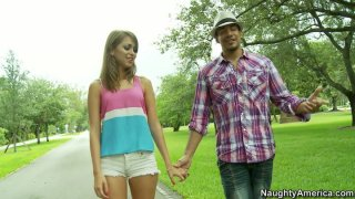 Romantic park walk ends up with blowjob for Riley Reid thumb