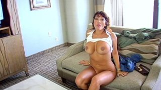 POV blowjob performed by sultry latina goddess Ava Devine thumb