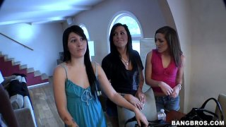 Three sluts Kiera King, Taisa Banx and Haylee Heart share one cock thumb