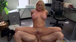 Office fuck is great cure from stress for Krissy Lynn thumb