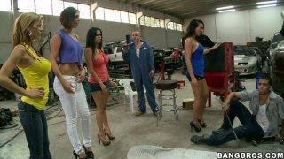 Surprise visit of Rachel Starr, Diamond Kitty, Alexis Fawx and Anastasia Morna thumb