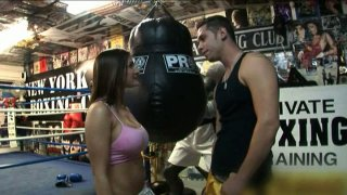Boxing fight_ends up_with facesitting on the ring for Austin Kincaid thumb