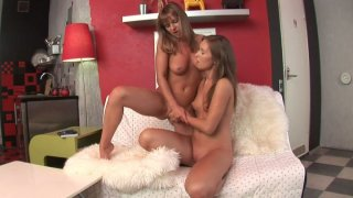 Jayden Shira has a passionate sex with her new girlfriend thumb