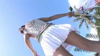 Tempting sporty babe Hana Haruna poses on cam wearing seductive swimsuit thumb