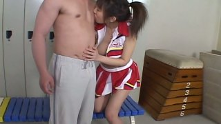 Young Japanese gal Ai Yumemi's hairy pussy gets fingered in locker room thumb