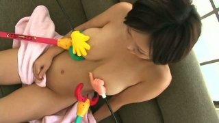 Gays playing with beautiful busty chick Anri-Chan thumb