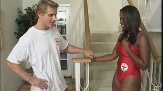 Baywatch slut Skyy Black fornicates with her co-worker thumb
