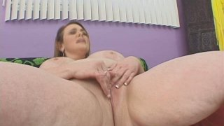 Ugly fatso Vanessa De C poses on cam and sucks a hard shaft deepthoat thumb