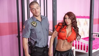 Prisoner Madison Ivy fucked and facialed in Jail by uniformed cop thumb