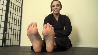 Sasha karate feet joi thumb