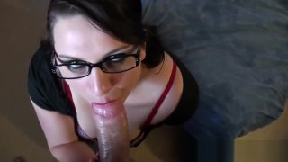 Syrial POV with a big cock in her ass and sprinkled thumb