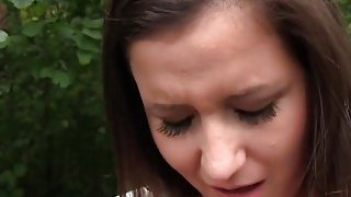 Fake agent bangs naive babe in his car in public thumb