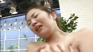 Busty Japanese Girl Played With thumb