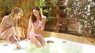 Skinny lesbians_Ariana Marie and Dakota Skye is inside the tub licking pussies thumb