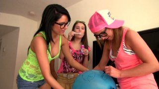 Zarena Summers, Maria Rica, Nikki Nirvana, Katie King eat each other's pussies on the party thumb