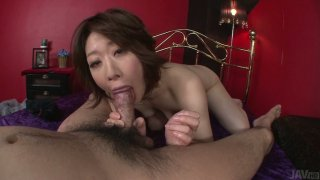 POV video of Japanese cunt Rio Kagawa serving her pussy doggystyle thumb
