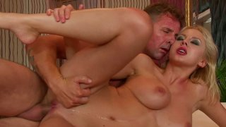 Romantic quickie with palatable blond babe Mandi Dee thumb