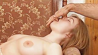 Busty amateur GF double penetration thumb
