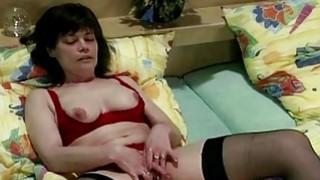 Brunette mature masturbating in_stockings thumb