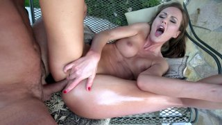 Tina Kay gets her rectum destroyed by the hard rod thumb