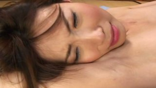 Desirable Japanese babe Chinatsu Izawa is screwed in a missionary position thumb