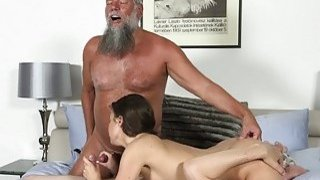 Old Young Porn Group fucked Teen Takes 2 grandpa thumb