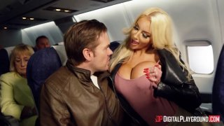 Horny sluts turn a passenger's flight_in to playground for hardcore sex thumb