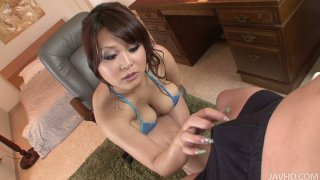 Chubby face Airi Ai gives a great blowjob and a tit fuck thumb