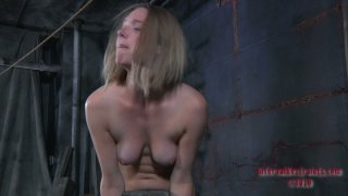 Horny chick in true slave hood Star is made to suck a dildo thumb