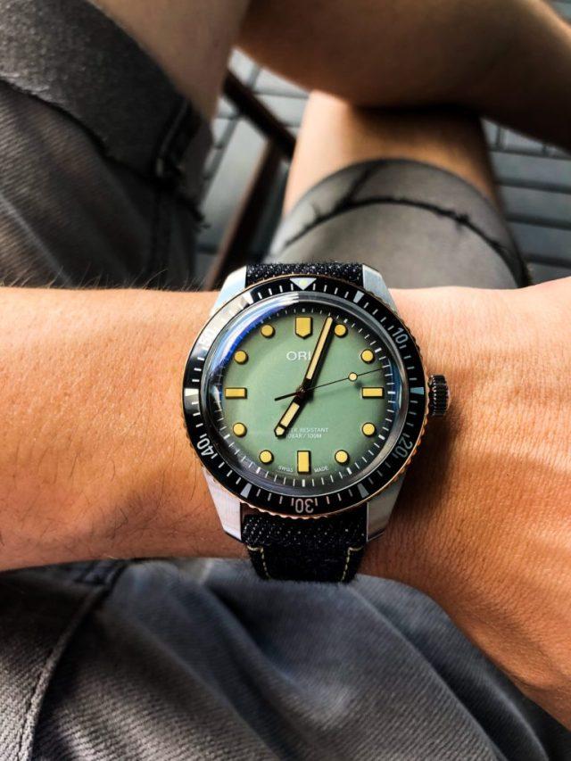 Oris X Momotaro Divers 65 fancy wrist shot
