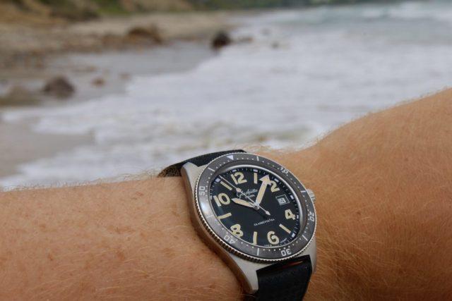 SeaQ 1969 on wrist