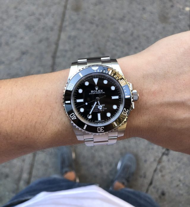 Wrist shot of Submariner 114060 no date