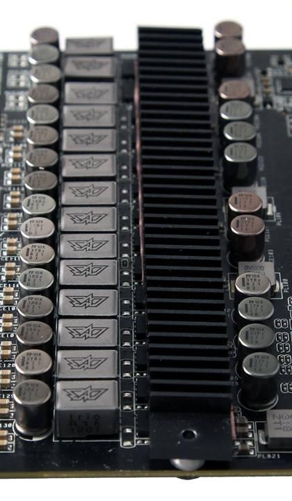 ASUS ROG MATRIX R9 290X Platinum Graphics Card Pictured Black Heatsink And Powerful 14 Phase VRM