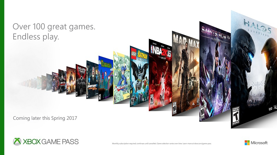 Xbox Game Pass To Launch On June 1st With Over 100 Games