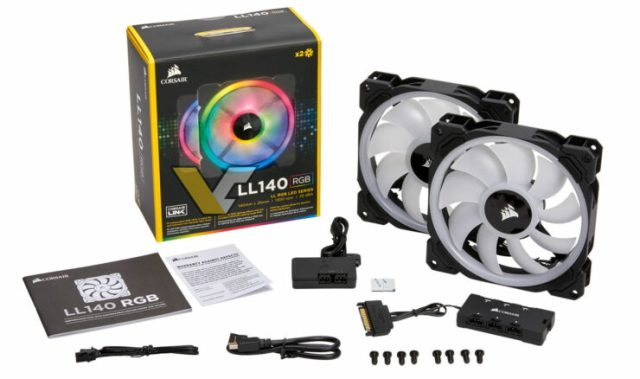 Corsair LL140 740x438 LL140 and LL120 RGB fans by Corsair   See what the package contains