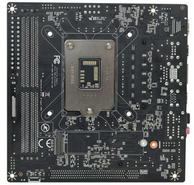EVGA H370 Stinger back pcb 740x706 EVGAs all new H370 Stinger Mini ITX Motherboard   Check out the features and specifications!