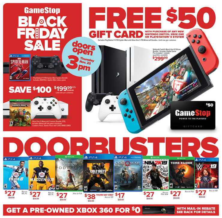 GameStop Black Friday Xbox One X Bundles Pre Owned