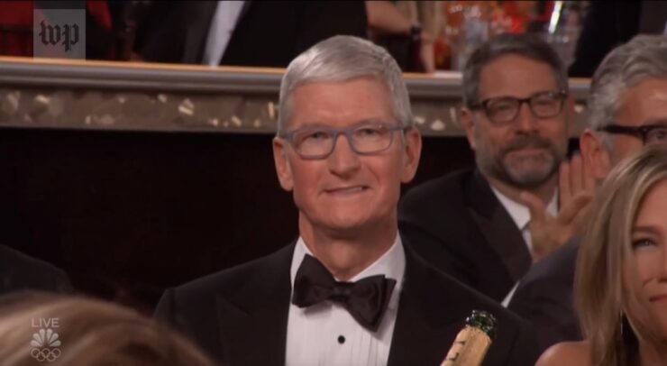Tim Cook Apple at Golden Globes