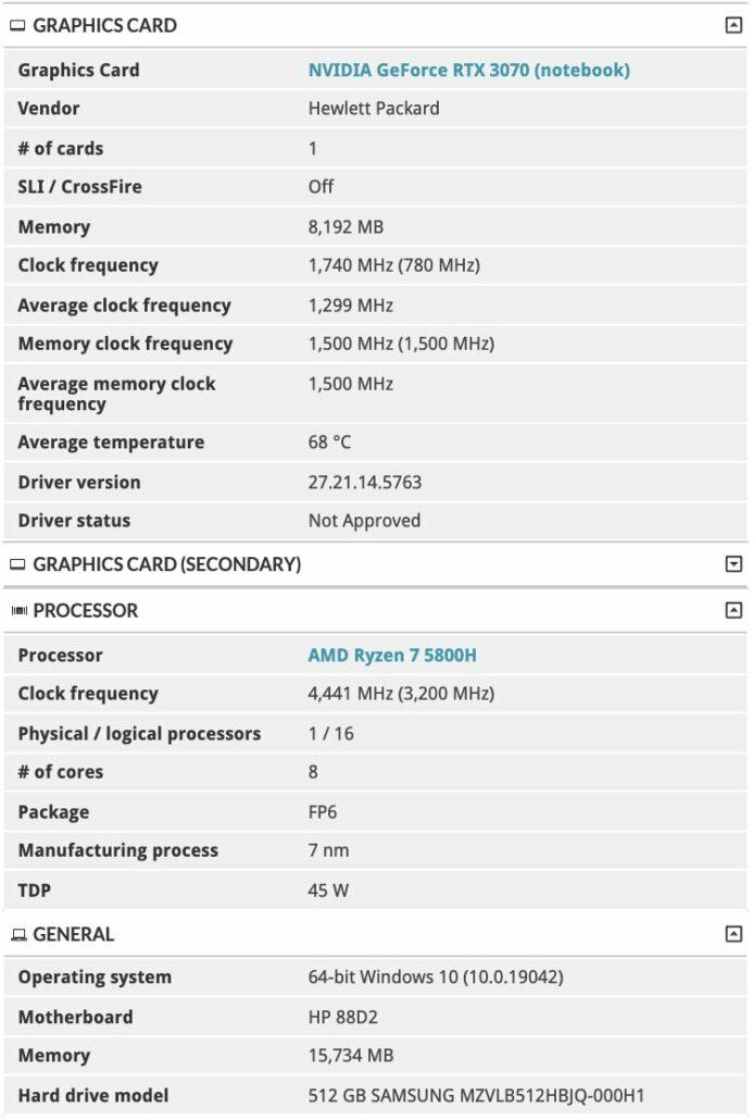 AMD Ryzen 5000 & NVIDIA GeForce RTX 30 HP Omen 15 Gaming Laptop