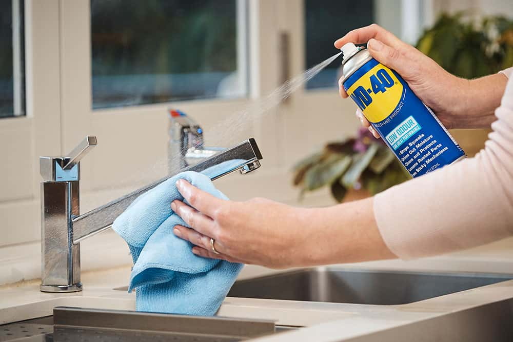 clean a stainless steel sink easily