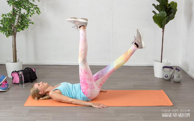 Entrenamiento de piernas en casa tijeras para piernas y abdominales