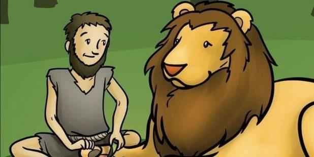 Short Moral Stories - The Lion & The Poor Slave